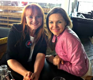 Justine Clarke and Marika Aubrey